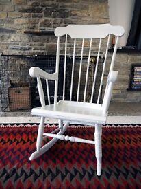Vintage Farmhouse Pine Rocking Chair