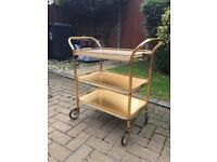 Gold vintage drinks trolley