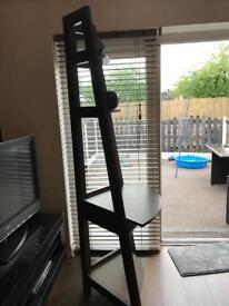 Dark Wood Corner Ladder Stand