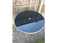 Grey foldable patio/garden table