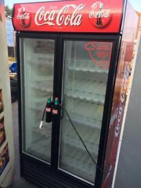 Coca Cola 2 door double drinks fridge commercial
