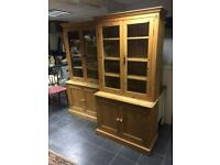 Welsh dresser and book shelf