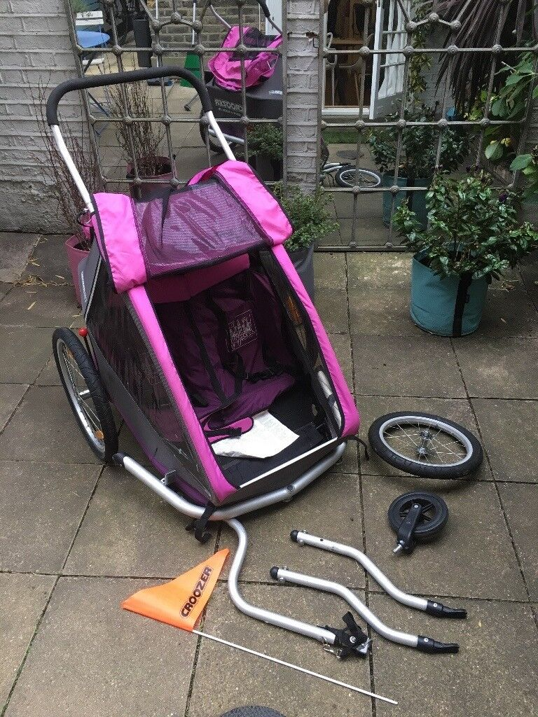 CART - Croozer Kid for 2 - 3 in 1 Two Child Trailer (Trailer kit, Stroller Kit & Jogging Kit)