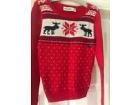 Abercrombie kids Christmas jumper NEW Medium 🎄🎄