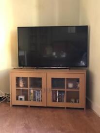 Corner tv cabinet with glass doors