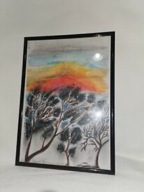 Beautiful art picture in frame