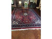 Persian wool rug 9.5ftx12.5ft