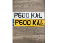 Private number plate for sale P600 KAL