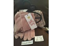 M&S scarf and glove set (brand new)