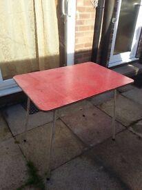 Vintage Red Formica Kitchen Table