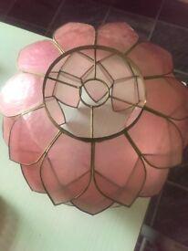 Vintage pink shell petal lampshade