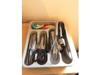 Near new cutlery in tray, need gone asap as moving overseas