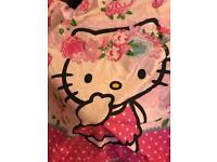 Hello Kitty single bedding and cushion