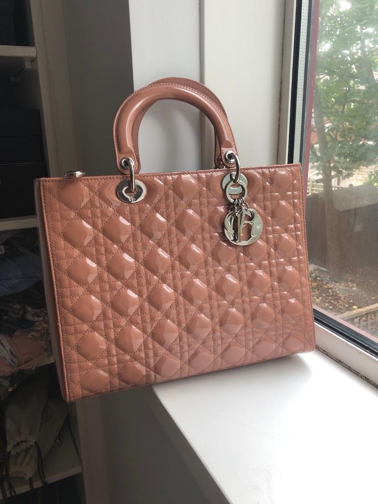 Genuine Christian Dior - Lady Dior Bag - Size L  5fc1d78a7d710
