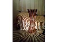 Free standing bamboo floor light