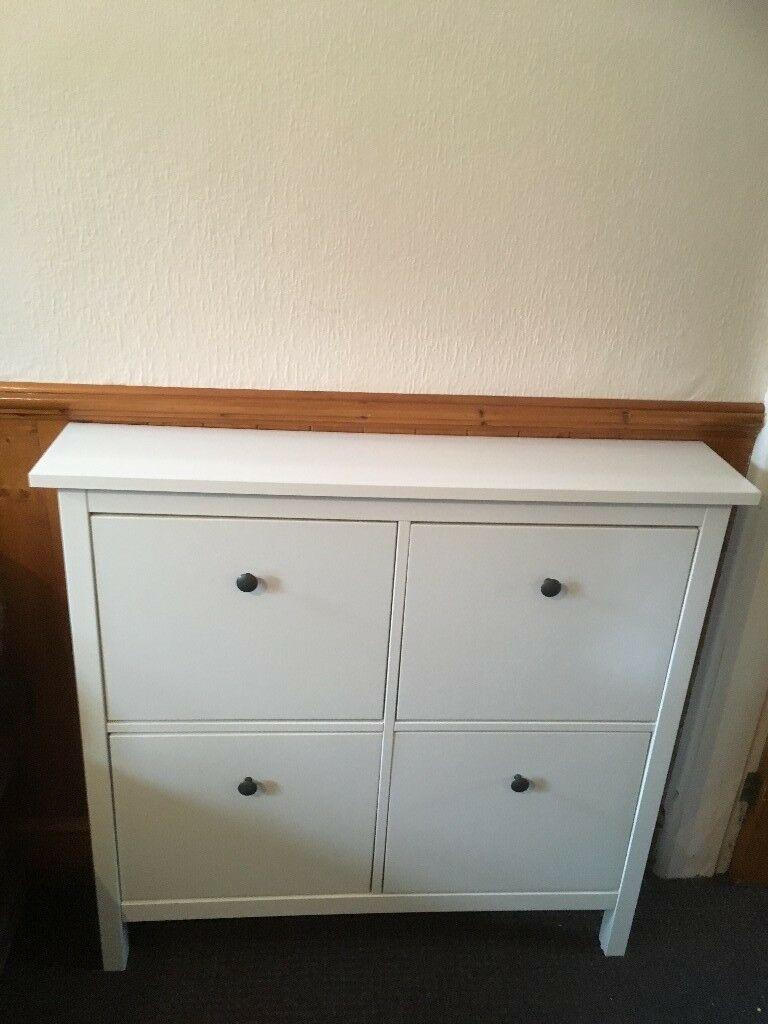 white ikea hemnes shoe storage cabinet in fallowfield manchester gumtree. Black Bedroom Furniture Sets. Home Design Ideas