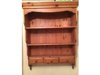 Antique Pine Wall Dresser