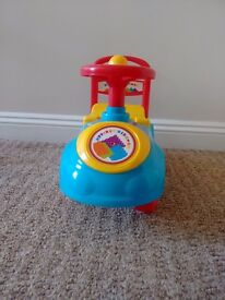 Kids my first ride on used indoor .In excellent condition. For 1+