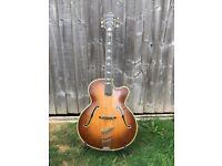 A Beautiful & Rare - Vintage (Selmer) Hofner Committee Guitar Brunette 1960/61