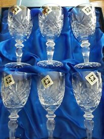 For sale. 6x Edinburgh crystal wine glasses.
