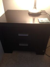 Super king size bed, 2 bedside drawer units and tall boy
