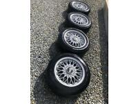 "BBs 14"" 4x100 alloy wheels"