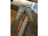 """Men's Burtons Grey Skinny Stretch Jeans Size waist 34"""" 32 Leg cost £35 Sell For £15"""