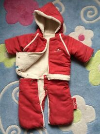 baby girl from 0-6ms 2 pair of winter suits
