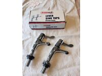Lever Sink Taps, Chrome Plated, Tradesave, Fitting Instructions, BNIB