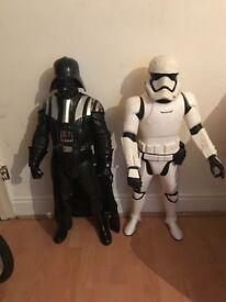 Darth vader and stormtrooper large