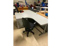 1.6 x 1.2 grey corner desks £130 each desk high drawers to match available also £70