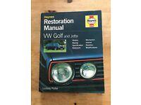 Haynes VW Golf restoration manual