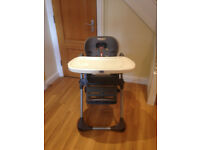 Chicco Highchair - Base and tray - for parts