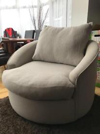 Grey twist chair