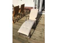 Garden Steamer Lounger / Chair with Cushion