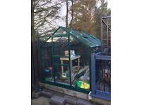 Greenhouse 10x6 green powder coated alluminium