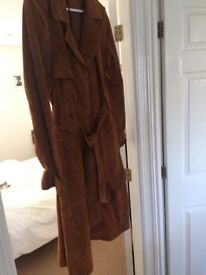 Brand new, with tags-Suede trench coat