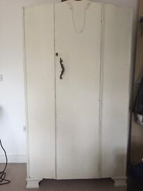 Old fashioned wardrobe. Previously painted in Annie Sloan. Still in good shape