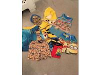 Brand new Boys minion swimming bundle trunks shorts towel vest & cap age 6-7 Years