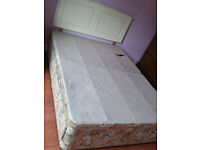Silent night double frame and headboard from smoke free pet free home---house clearance