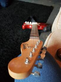 Red EncoreElectric Guitar with small AMP, 2m wire and strap