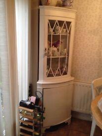 Pretty painted corner dresser