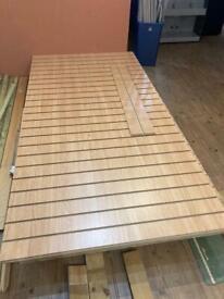 10 x Sheets of 8ft x4ft Beech Colour Slat Wall & Aluminium Inserts