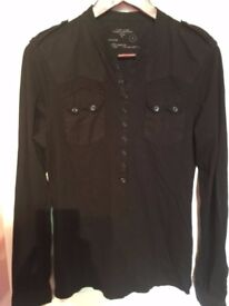 ALLSAINTS AS NEW SHIRT WITH CLIPS WAS £140 ONLY 20£!!!!! SIZE LARGE