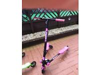 Black and pink flicker A3 scooter