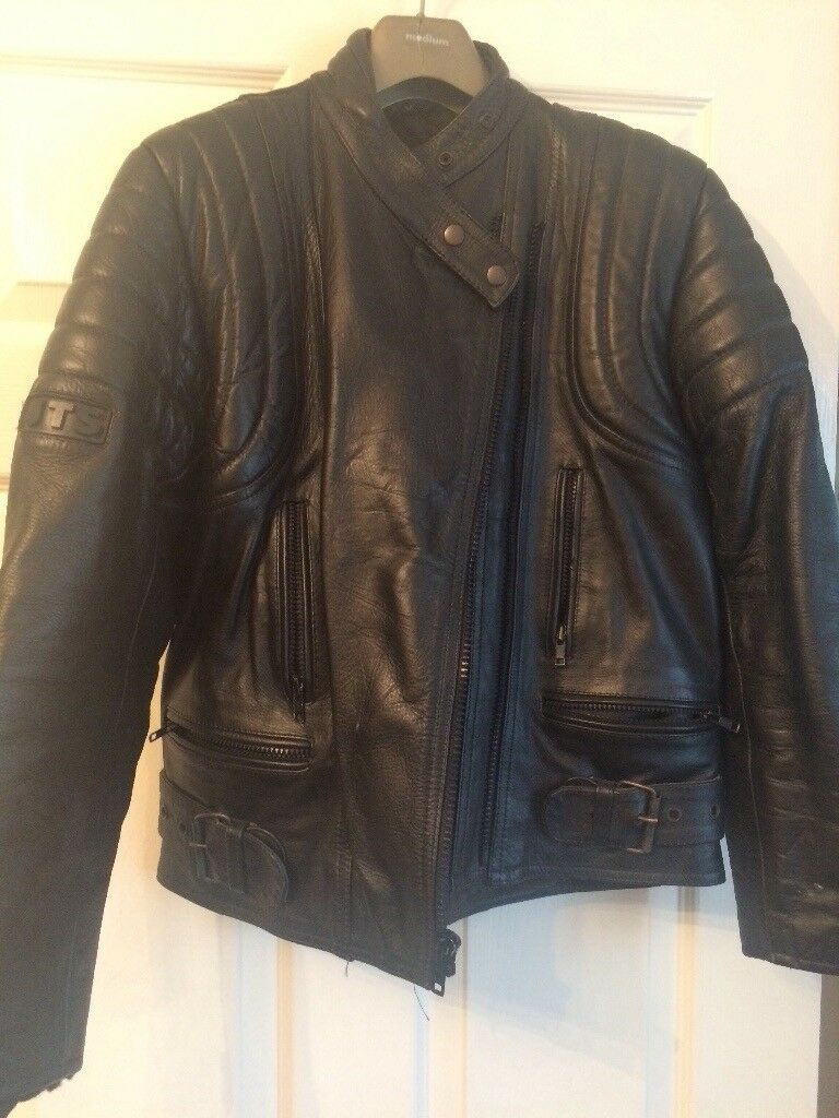 Ladies leather motor bike jacket