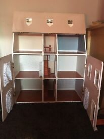 Handmade dolls house needs some work on the roof or paper lovely dolls house one of a kind