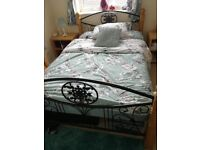Lovely double bed for sale brand new mattress bedside tables free with bed £150 ono