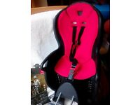 Hamax Kiss child bike seat. As new condition, only used twice. Instructions included.