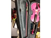 Rainbow Fantasia Pink Violin (3/4) junior